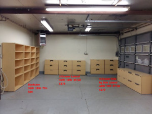 Wooden Bookcases with Matching Filing cabinets Brand New