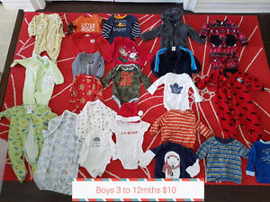Boys clothes  0 to 12mths