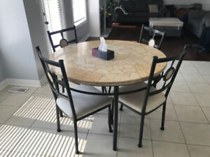 Breakfast Area Dining Table w/ 4 Chairs