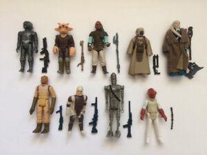 Vintage Star Wars figures complete