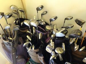 Few sets of Golf clubs, bags, carts, drivers, etc.