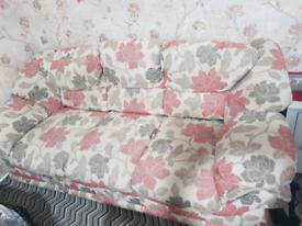 Three-seater floral sofa