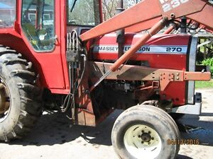 60 hp 270 MF tractor heated cab & loader