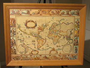 Framed world map kijiji in calgary buy sell save with world map nova totius terrarum orbis geographica gumiabroncs Images