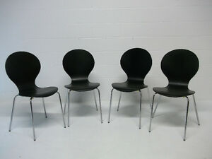 Set of 4 Dining Chairs Mid Century Modern Ant Chair Repro