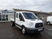 Ford Transit 2.2 Tdci 125Ps Double Cab Tipper DIESEL MANUAL WHITE (2016)