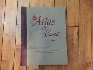 Atlas du Canada année 1957