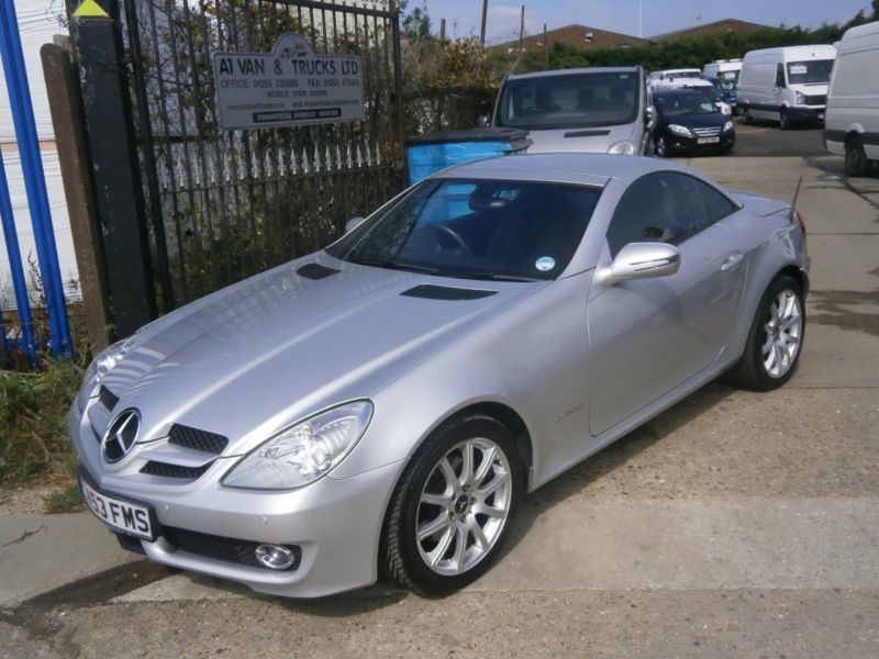 2008 mercedes benz slk 200 kompressor 1 8 auto hard top convertible car silver in clacton on. Black Bedroom Furniture Sets. Home Design Ideas