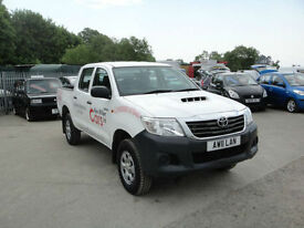 2013 Toyota Hi-Lux 2.5 D-4D 4WD HL2 DOUBLE CAB PICK UP. Only 85,000 miles.