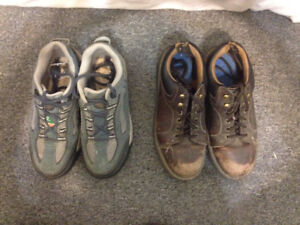 Ladies steel toed shoes -size 7-two pairs-work shoe & runner