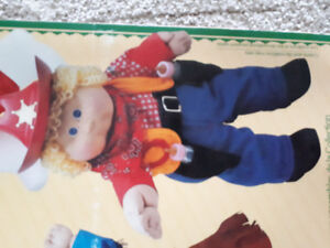 1984 Vintage Cabbage Patch kid western outfit