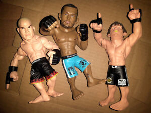 3 UFC MMA Fighter Action Figures   Sanchez  Ortiz  Henderson