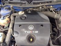 MOTOR AND GEAR BOX FOR SALE VOLKSWAGEN GOLF 1.9 TDI