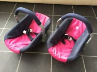 Dolls Twin Car/Carry Seats