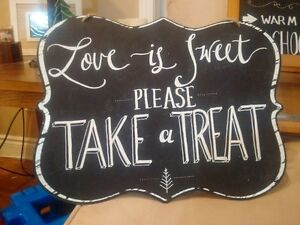 chalk signs for wedding or parties candy/ hot chocolate bars Cambridge Kitchener Area image 2