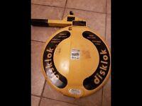 Disklok steering wheel lock disklock