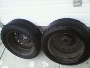 "For Sale TWO P195/55/R15"" RADIALS MOUNTED & BALANCED 98%TREAD"