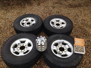 "4 - 17"" rims with BF Goodrich All Terrain TA Rubber"