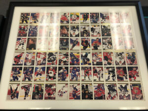 Uncut 1994 Premier Hockey Cards Framed