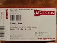 Funny Girl theatre tickets - TONIGHT 19:30 Bristol Hippod