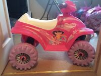 Girls battery powered quad with charger