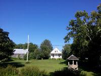 Grande propriété sur le Lac Champlain/Rivière Richelieu à Noyan.