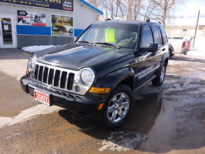 2007 JEEP LIBERTY LIMITED 4X4  116k cert e tested we finance