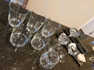 Glass & Metal Candle Holders $15