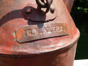 antique DOCTOR'S CAN pouring jug ARMY CIVIL WAR w/name plate