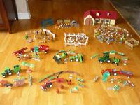 Lot de tracteurs, animaux et accessoires de ferme