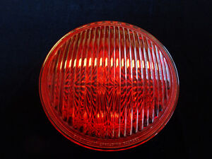 Vintage Traffic Light Red Glass - Spreading Roundel