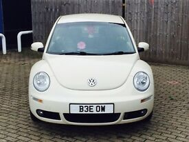 Cream 2007 Volkswagen Beetle Luna 1.8 Turbo GTI Petrol manual Full Black Leather FVWSH 1 MOT OFFERS