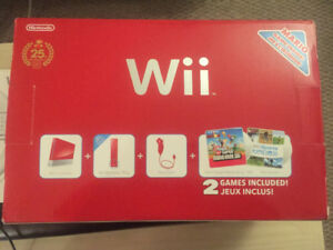 25th Anniversary Edition Wii console with extras