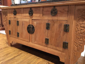 Solid wood hutch/sideboard
