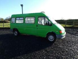Ford TRANSIT 150 LWB panel van 2.0 Petrol ex Council bus, ideal camper project