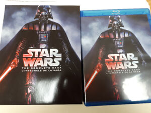 BLU-RAY MOVIE - STAR WARS (THE COMPLETE SAGA ) AS PICTURES