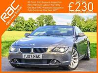 2007 BMW 6 SERIES 630i Sport 258 PS 6 Speed Auto Convertible Electric Soft Top S