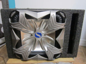Sub kicker 12'' carré, 1500W peak, 750W rms