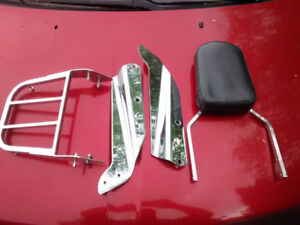 Honda VTX Used Backrest and Rear Rack in Great Condition