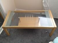 sliding glass coffee table