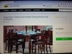 Kingstown Pub Height Dining Room Table & Four Chairs