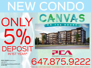 NEW MARKHAM CONDO - ONLY 5% Deposit In One Year