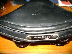 VINTAGE LEATHER  SPRING BICYCLE SEAT