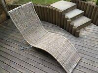 Ikea wicker chaise lounge rattan seat