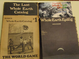 Whole Earth Catalogues! Set of 4 Hippy Books! Collectible!!