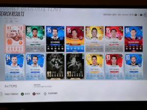 NHL 18 HUT Team/Players