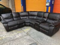 Harveys belaire reclining corner sofa with drinks compartment ex display