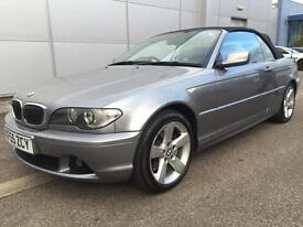 2005 55 BMW 320 2.0TD Cd SE convertible, clean Full cream Leather, FSH
