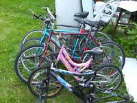 Lot de vélos pour pieces