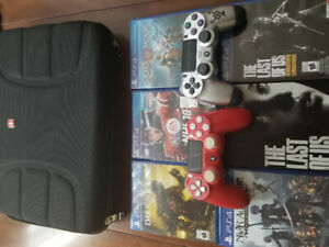 New 500GB PS4 in Box, 5 Games, 2 Controller, Kontrolfreek, Case